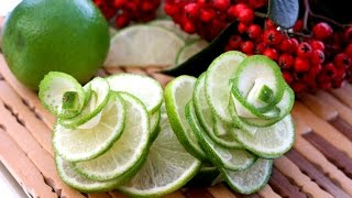 Art In Lime Rose Flower | Fruit Carving Garnish | Food Decoration | Party Garnishing By ItalyPaul