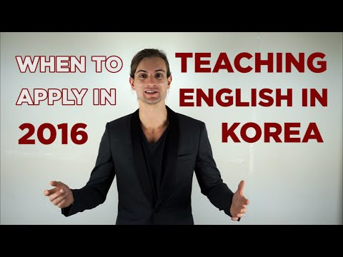 When To Apply To Teach English In Korea In 2016
