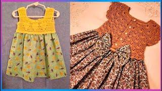 Vestidos tejidos a crochet para niñas