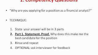 Difficult interview questions tips and advice (banking, finance, consulting)
