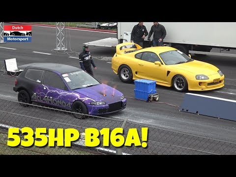 500HP Honda Civic B16A w/ Precision Turbo – 10 Second 1/4 Mile!