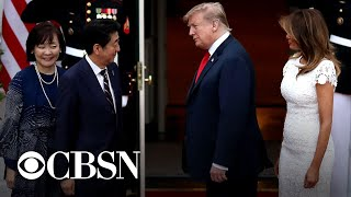 President Trump arrives in Japan for trade talks
