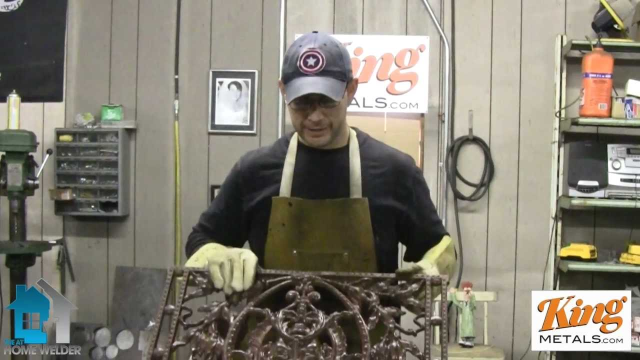 How To Weld A Fireplace Screen - YouTube