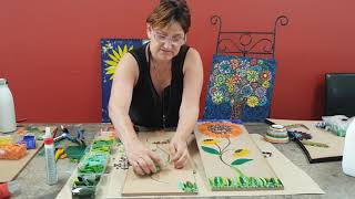 How to Mosaic a Sunflower Plaque