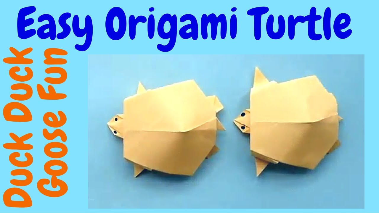 Papercraft Make an Easy Origami Turtle - Origami Tutorial