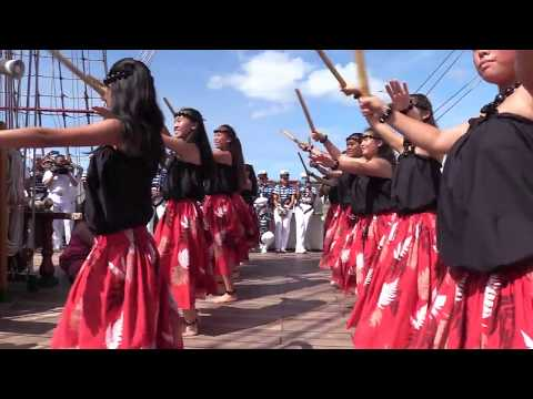St. Andrew's students greet Mexican tall ship