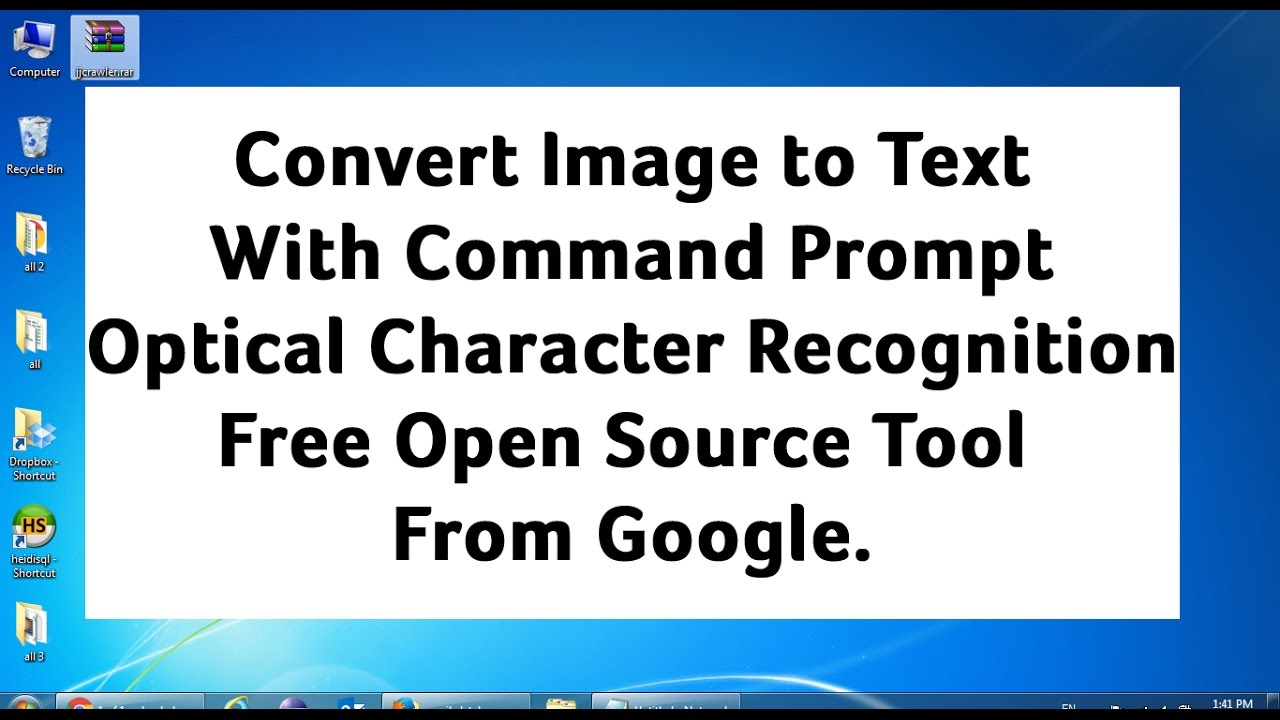 Convert an Image to Text (OCR) using MS Office Document
