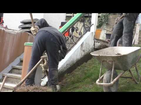 Wasserschaden, Garagendecke, Außenwände abgedichtet, neue Drainage - Firma K.Timreck
