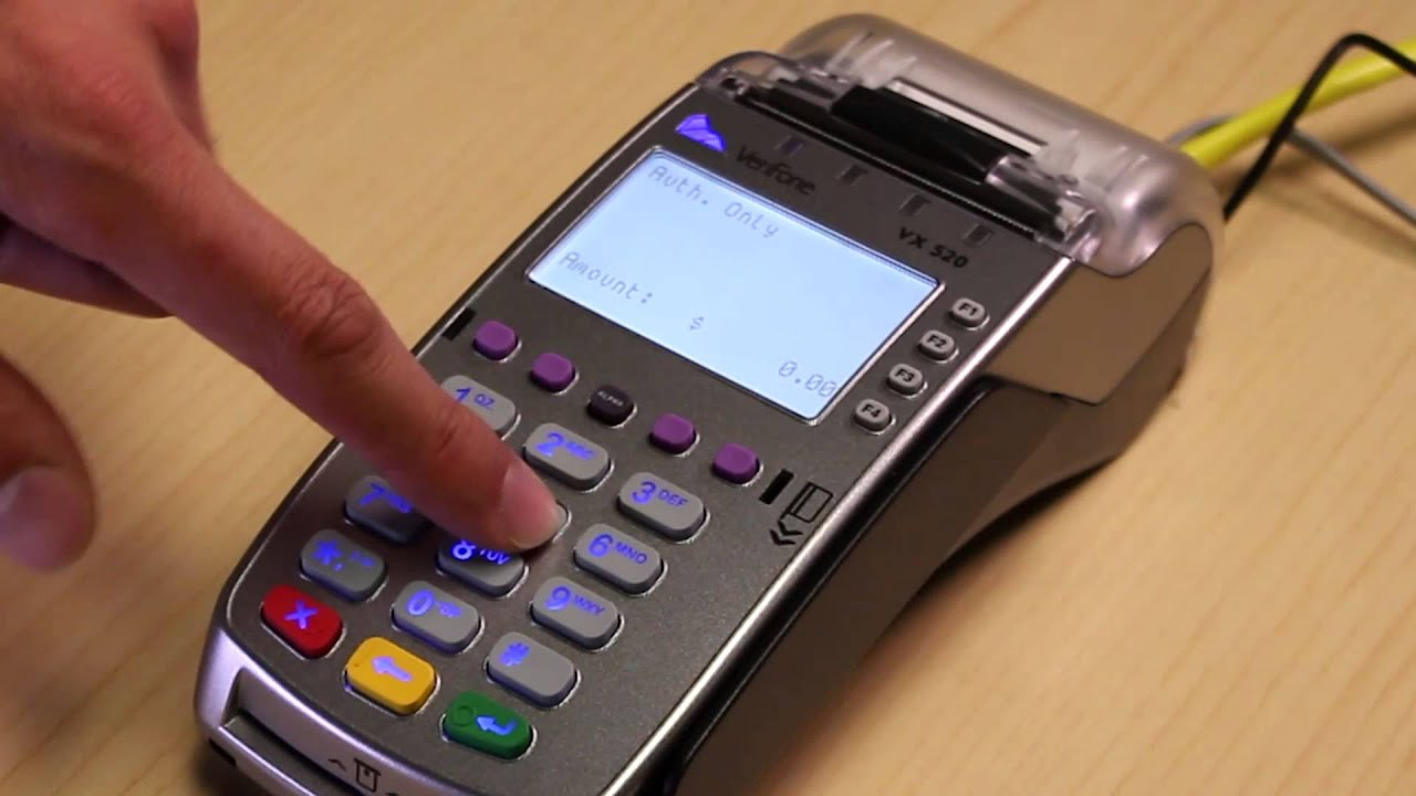 Gravity Payments | VX520 How-to: Authorization Only
