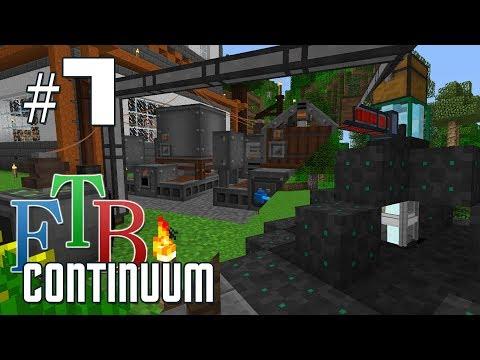 FTB Continuum #7 - Canola power and ore miner - YouTube