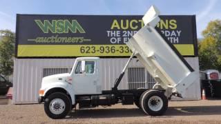 1997 International 4900 Dump Truck at Public Auction