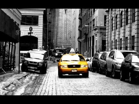 tuto photo couleur noir blanc taxi new yorkais avec photoshop youtube. Black Bedroom Furniture Sets. Home Design Ideas