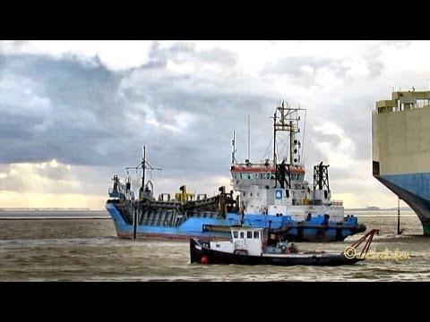 HEGEMANN 1 DQKQ IMO 9113070 Emden Germany Trailing suction hopper dredge Baggerschiff