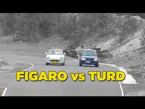 Nissan Figaro VS Daihatsu Blue Turd Final Battle