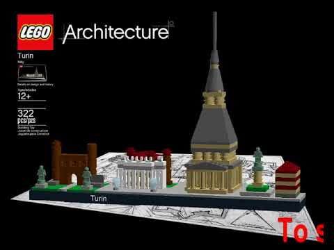 LEGO Architecture Series - Turin Italy on Radio Number One with Katia De Rossi