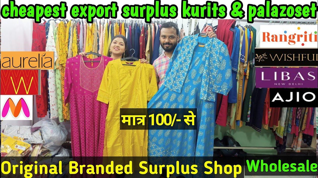 Branded Export Surplus @cheapest price Big Brands under one roof Kurti,Plazoset & SKD start@200 only