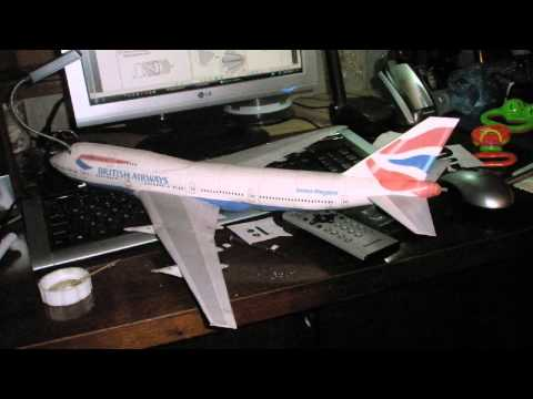 Papercraft Handmade paper model British Airways Boeing 747 400 papercraft