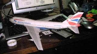 Handmade paper model British Airways Boeing 747 400 papercraft