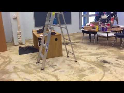 Staff at Deane Bozeman School are cleaning up after last week's vandalism