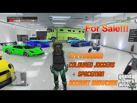 GTA 5 Modded Account Showcase!!!(Coloured Joggers+Spaceman) [PS4 | XBOX-ONE | PC] (SOLD!!!)