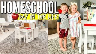 🍎 HOMESCHOOL DAY IN THE LIFE + HOMESCHOOL ROOM TOUR | LOVE MEG 2019