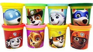 Paw Patrol Play-Doh Can Heads&Toys Robo Dog Apollo Tracker Everest Rubble Zuma Marshall Skye