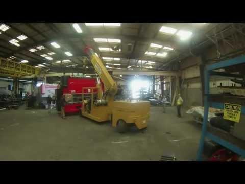 crane and rigging timelapse of a press break move