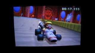 Mario Kart 7 GBA Bowser Castle 1 1′11″308 Glitch Former World Record