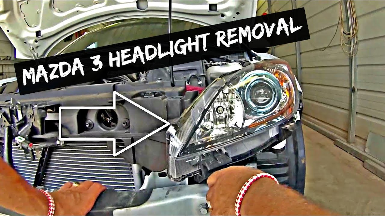 Mazda 3 Headlight Removal and Replacement 2010 2011 2012