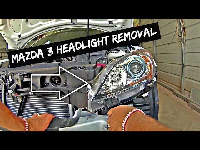 Mazda 3 Headlight Removal and Replacement 2010 2011 2012 2013 - YouTube
