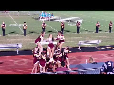 Tuloso Midway Varsity Cheerleaders Stunt Routine 2016