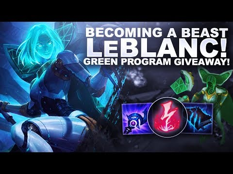 BECOMING A BEAST ON LEBLANC! PROGRAM SKIN GIVEAWAY #LeaguePartner | League of Legends