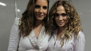 Ivete Sangalo e Jennifer Lopez se encontram nos bastidores de show