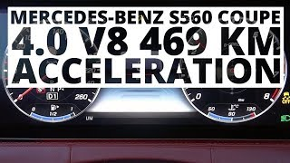 Mercedes-Benz S560 Coupe 4.0 V8 469 KM (AT) - acceleration 0-100 km/h