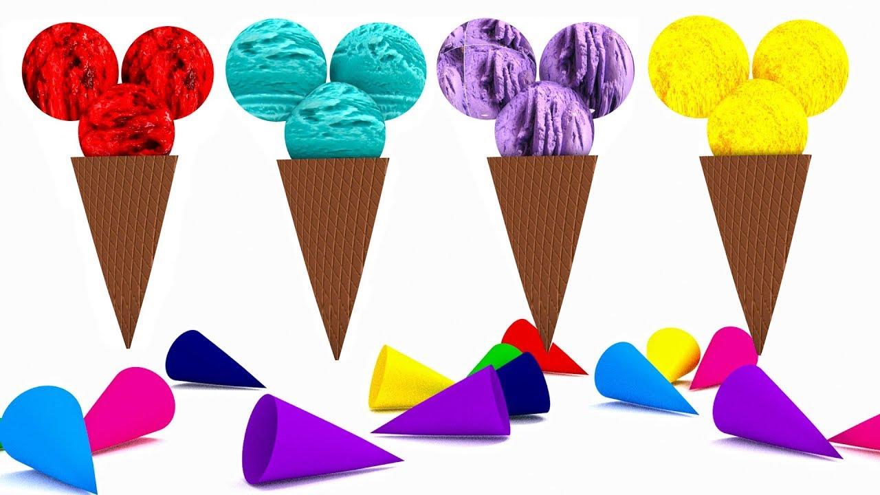 Çocuklar için ingilizce renkleri öğreten video - Dondurmalar ile renkleri öğreniyorum