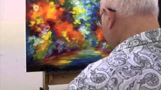 Repeat youtube video Leondi Afremov painting End of Winter - sped up video
