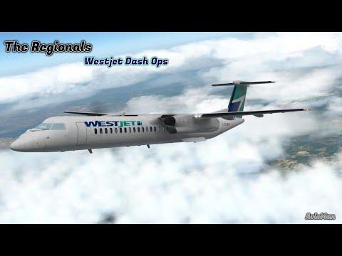FlyJSim Bombardier Dash 8 Q400, QXE2176 From KRNO-KPDX On Vatsim X