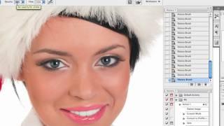 Уроки Photoshop - отбеливание зубов