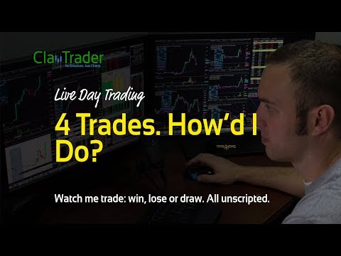 Live Day Trading – 4 Trades. How'd I Do?