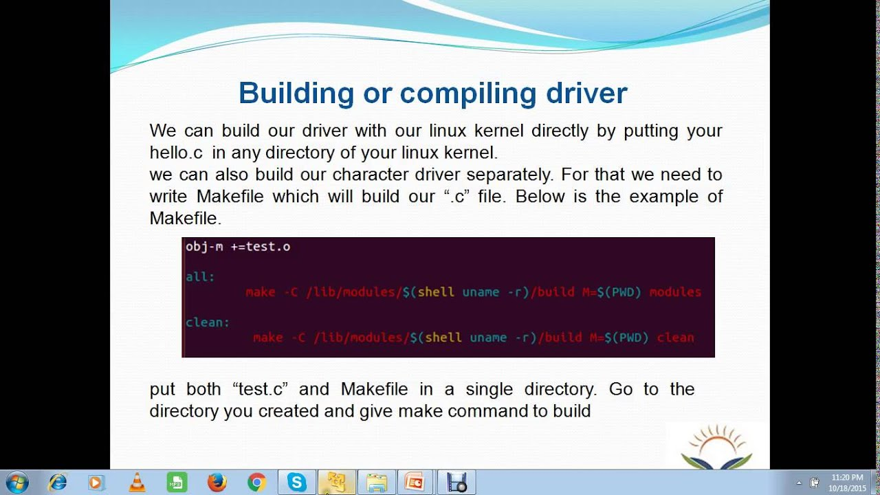 Linux Device Driver Training Part 5 - Writing Hello World Module
