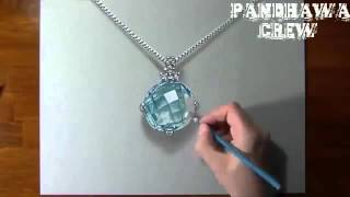 AMAZING 3D DRAWING ART WITH PENCIL NECKLACE PENDANT