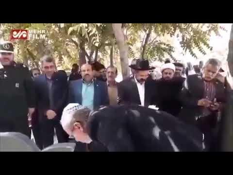צפו: אנשי הקהילה היהודית ביחד עם אנשי משמרות המהפכה חלקו כבוד לחללים היהודים