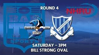 2018 NHRU Round 4 Premier 1 - Nelson Bay Gropers v Wanderers