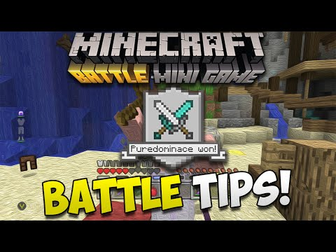 Minecraft Console: BATTLE MODE TIPS TO GET YOU THE WIN!
