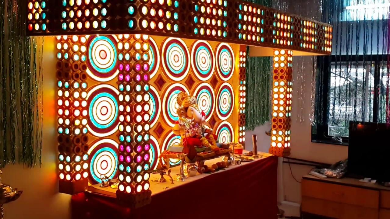Ganpati Decoration Design For Home
