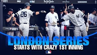 Yanks and Sox post big first innings in London