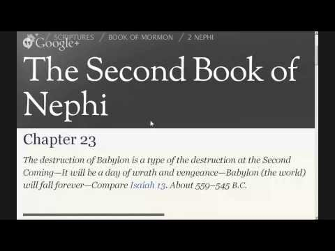 Read the Book of Mormon 2 Nephi 23 - The destruction of Babylon is a type.