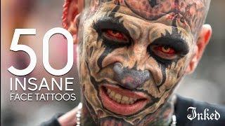 50 Insane Face Tattoos | INKED