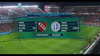 Transmision del partido Independiente - Belgrano. Liguilla Pre Libertadores.