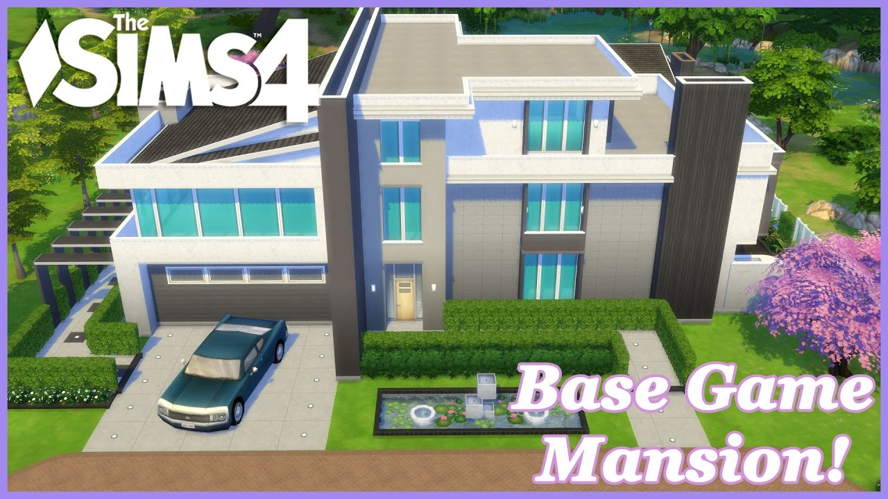 The Sims 4 - Base Game Modern Mansion (House Build)